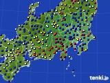 2021年03月30日の関東・甲信地方のアメダス(日照時間)