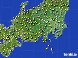 関東・甲信地方のアメダス実況(気温)(2021年03月30日)