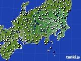 関東・甲信地方のアメダス実況(風向・風速)(2021年03月30日)