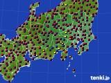 関東・甲信地方のアメダス実況(日照時間)(2021年03月31日)