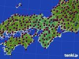 2021年03月31日の近畿地方のアメダス(日照時間)