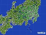 関東・甲信地方のアメダス実況(風向・風速)(2021年03月31日)
