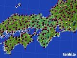 2021年04月01日の近畿地方のアメダス(日照時間)