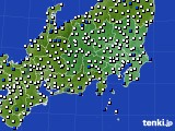2021年04月01日の関東・甲信地方のアメダス(風向・風速)