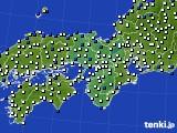 2021年04月01日の近畿地方のアメダス(風向・風速)