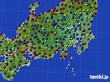 2021年04月02日の関東・甲信地方のアメダス(日照時間)