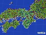 2021年04月02日の近畿地方のアメダス(日照時間)