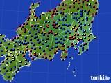 2021年04月03日の関東・甲信地方のアメダス(日照時間)