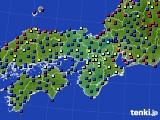 2021年04月03日の近畿地方のアメダス(日照時間)