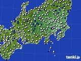 2021年04月03日の関東・甲信地方のアメダス(風向・風速)