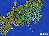 2021年04月05日の関東・甲信地方のアメダス(日照時間)