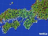 2021年04月06日の近畿地方のアメダス(日照時間)