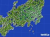 2021年04月07日の関東・甲信地方のアメダス(風向・風速)