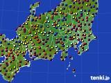 2021年04月08日の関東・甲信地方のアメダス(日照時間)
