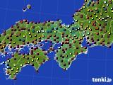 2021年04月08日の近畿地方のアメダス(日照時間)