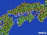 四国地方のアメダス実況(日照時間)(2021年04月08日)