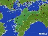 愛媛県のアメダス実況(日照時間)(2021年04月08日)
