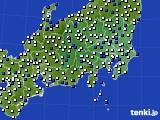2021年04月08日の関東・甲信地方のアメダス(風向・風速)