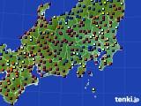 2021年04月09日の関東・甲信地方のアメダス(日照時間)