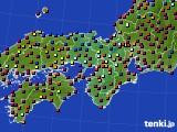 2021年04月09日の近畿地方のアメダス(日照時間)