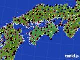 四国地方のアメダス実況(日照時間)(2021年04月09日)