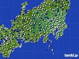 2021年04月09日の関東・甲信地方のアメダス(風向・風速)