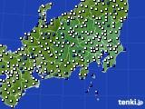 2021年04月10日の関東・甲信地方のアメダス(風向・風速)