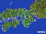 2021年04月12日の近畿地方のアメダス(日照時間)
