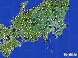 2021年04月12日の関東・甲信地方のアメダス(風向・風速)