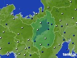 2021年04月12日の滋賀県のアメダス(風向・風速)