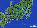 2021年04月13日の関東・甲信地方のアメダス(日照時間)