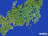 2021年04月13日の関東・甲信地方のアメダス(風向・風速)