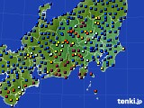 2021年04月14日の関東・甲信地方のアメダス(日照時間)