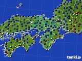 2021年04月14日の近畿地方のアメダス(日照時間)