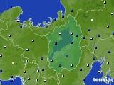 2021年04月14日の滋賀県のアメダス(風向・風速)