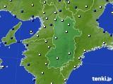2021年04月14日の奈良県のアメダス(風向・風速)