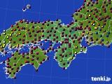 2021年04月15日の近畿地方のアメダス(日照時間)