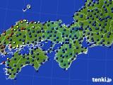 2021年04月17日の近畿地方のアメダス(日照時間)