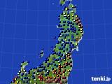 東北地方のアメダス実況(日照時間)(2021年04月18日)