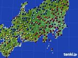 2021年04月18日の関東・甲信地方のアメダス(日照時間)
