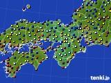 2021年04月18日の近畿地方のアメダス(日照時間)