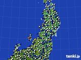 東北地方のアメダス実況(風向・風速)(2021年04月18日)