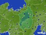 2021年04月18日の滋賀県のアメダス(風向・風速)