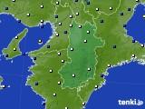 2021年04月18日の奈良県のアメダス(風向・風速)