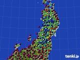 東北地方のアメダス実況(日照時間)(2021年04月19日)