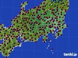 2021年04月19日の関東・甲信地方のアメダス(日照時間)