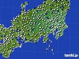 2021年04月19日の関東・甲信地方のアメダス(風向・風速)