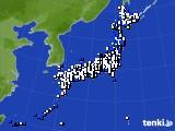 アメダス実況(風向・風速)(2021年04月19日)
