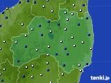 福島県のアメダス実況(風向・風速)(2021年04月19日)