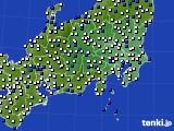 2021年04月20日の関東・甲信地方のアメダス(風向・風速)